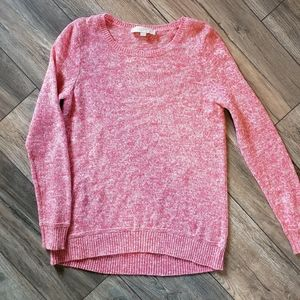 Loft warm pink sweater